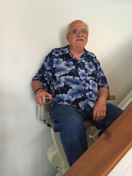 Mr. Duke from Myrtle Beach in his Rave Stair Lift